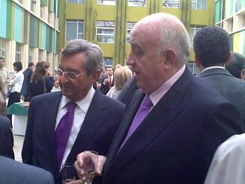 Sr. Lorenzo Alonso  Presidente de Ceopan y el Sr. Andreu Llargués Presidente del Gremi de Flaquers de la provincia de Barcelona