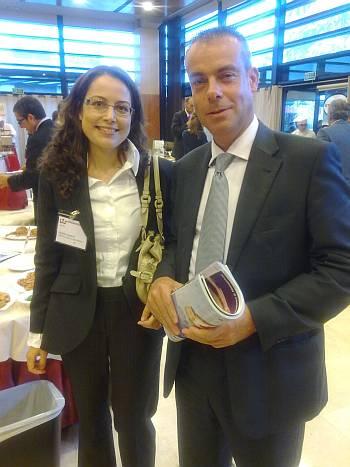 Sra. Elisabeth Llambrich, Adjunta Departamento Técnico de Ferré & Consulting Group junto a Sr. Jordi García, Jefe de Ventas de Puratos España.