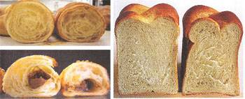 Mano izquierda: pre cocido al horno y vacuum cooling, Mano derecha: producto convencional.