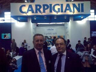 Izquierda Sr. Patrizio Pironi, Director de exportaciones de Carpigiani, derecha, Sr. José R. Ferré, Director General de Ferré & Consulting Group.