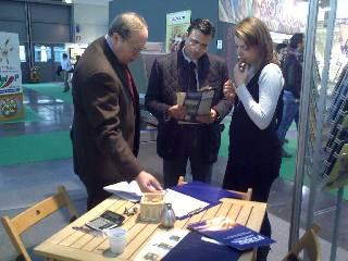 Sr. Diego Pinilla, Director Comercial de Ferré & Consulting Group, haciendo Business en la exhibición Sigep, Riminni, Italy.