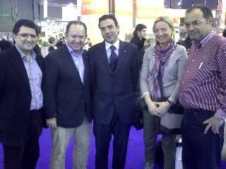 Sr. Carlos Mariel, Colaborador de Ferré & Consulting, Sr. Puigcerver, Presidente de Tecfood, Sr. Pinilla, Dtor. de F&CG., Sr. Comas Téc. de Ireks y Sra.