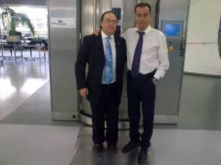 Sr. José Ramón Ferré, Presidente de Ferré & Consulting, junto al Sr. Harry Alfonso, Director de las Industrias de Los Compadres