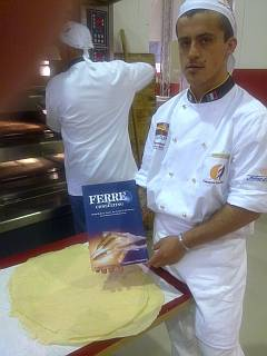 Pan Carasau presentado por F&CG en SIAB 2010 con elaboraciones del Técnico de Panificación Fabio Soru procedente de Cerdeña