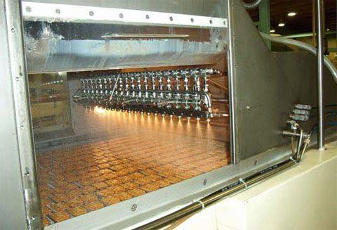 Rampa de pulverización de aceite de palma en crackers