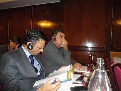 El Sr. Diego Pinilla Díaz, Director de Ferré & Consulting Group durante el seminario junto al Dr. Joan Quílez - Profesor de la URV ( Universitat Rovira i Virgili) - Tarragona