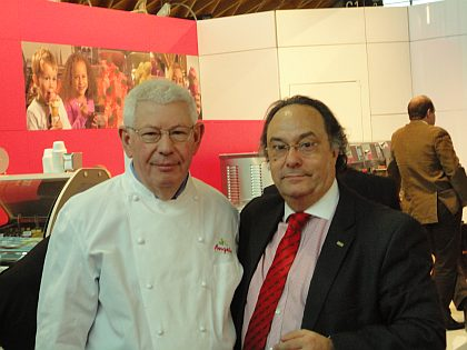 Don Angelo Corvitto profesor de heladería Don José R. Ferré Presidente de Ferré & Consulting Group