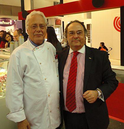 Ingeniero Maestro Heladero Don Pino Scaringella junto a Don José R. Ferré Presidente de Ferré & Consulting Group