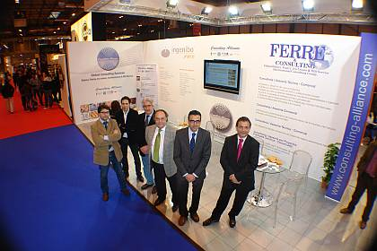 Parte del equipo de Ferré & Consulting Group (Consulting Alliance Holding) que estuvo presente en Feria Ifema 2011.