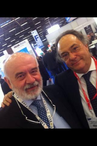 D. Cristiano Ferrero, Administratore Delegato – CEO de Aromitalia (izda) junto a D. José R. Ferré, CEO de Ferré & Consulting Group (Consulting Alliance Holding) durante su encuentro en Fi & Ni 2011.