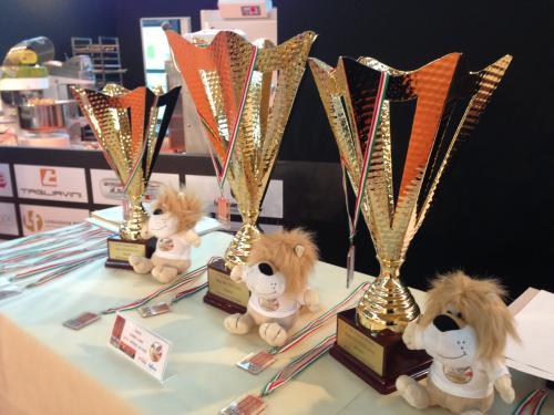 Trofeos y galardones entregados en la feria.