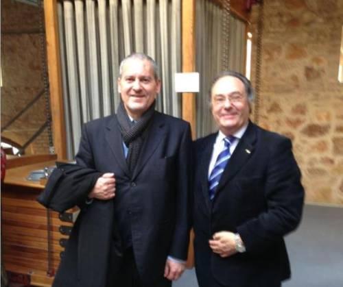 Profesor emérito D. Miguel Benítez y colaborador de honor de Ferré & Consulting Group junto al Sr. J.R. Ferré CEO de Ferré & Consulting Group