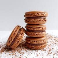 Macarons de chocolate con ganache de nutella