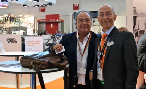 El Sr. J.R. Ferré, CEO de Ferré & Consulting Group (Consulting Alliance Holding) junto al Sr. Freddy Fernández, Area Sales Manager America Latina de la compañia SVEBA-DAHLEN