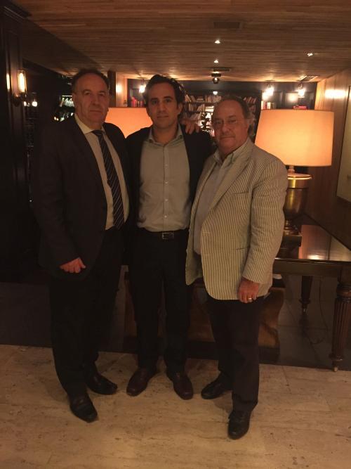 Sr. Luis Montes - Director General De Sveba- Dahlen España- Latinoamérica, Sr. Arturo Caballer - Director General Puratos - Rep Dominicana Y Caribe y el Sr. Ferré de Holding Group  Ferré & Consulting Europa & Usa