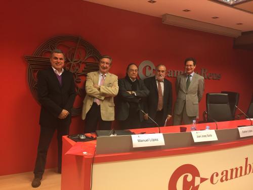 Sr. Ramon Camí, Sr. Joan Josep Sardà Arasa , Sr. Ferré, Sr. Antonio Estévez  Marín y  Sr. Fernando Vidal- Folch de Balanzó