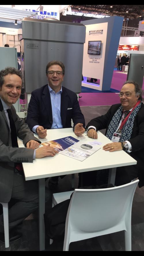"""Sr. Federico Fabri (Manager Sancassiano), Sr. Davide Trocco (Presidente Sancassiano) junto al Dr. Ferré de Holding Group """"FERRÉ & CONSULTING EUROPA & USA"""""""
