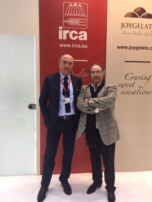 Sr. Francesco Morgnino (Técnico heladería, director de la factoría Irca en Italia), junto a Sr. José Ramón Ferré (Presidente- CEO) de Ferré Consulting & Associates Eng. Usa/Europe