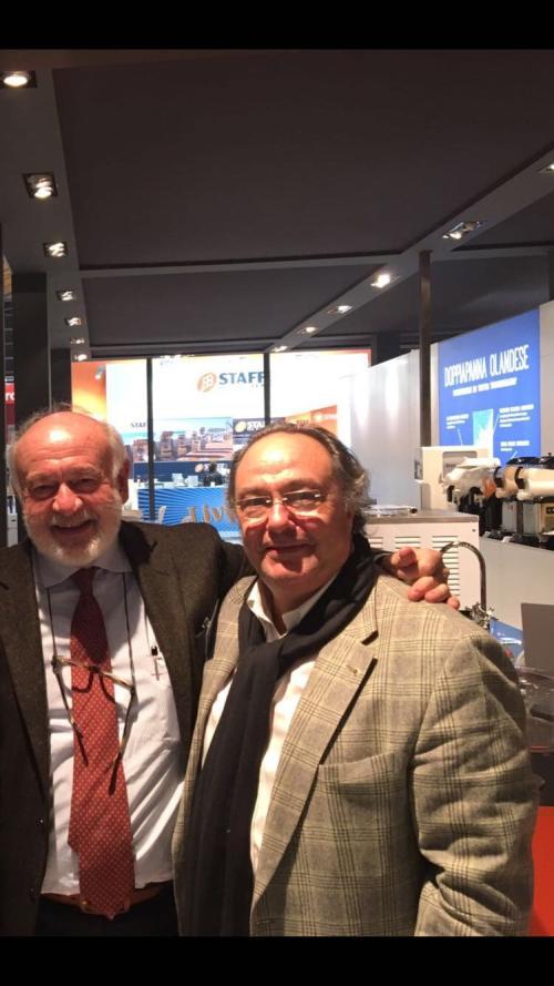 Sr. Cristiano Ferrero – Presidente De Aromitalia- Grupo Gei – Italy junto al Sr. José Ramón Ferré (Presidente- CEO) de Ferré Consulting & Associates Eng. Usa/Europe