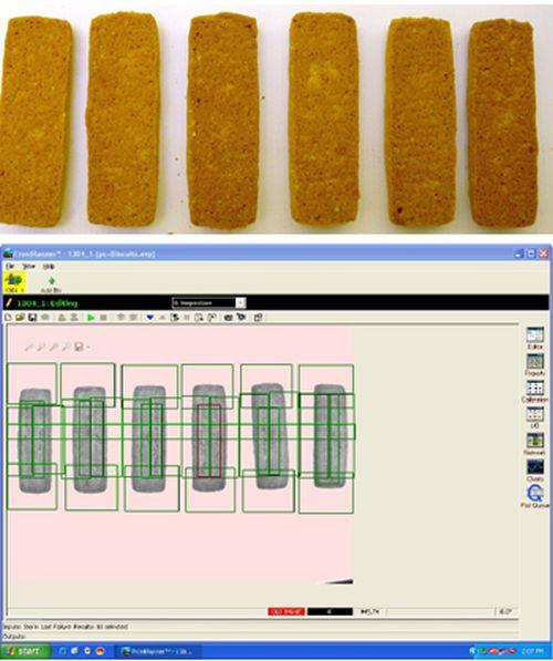 Inspección galletas con visión artificial (Imágen: infaimon.com)