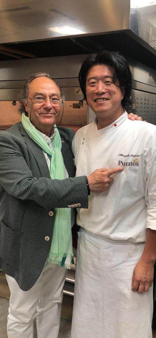 D. José R. Ferré – CEO de FERRÉ CONSULTING Holding Group, con D. Hiroyuki Yaguchi , Senior Supervisor- Bakey - Technical Sale en Puratos - Japón.