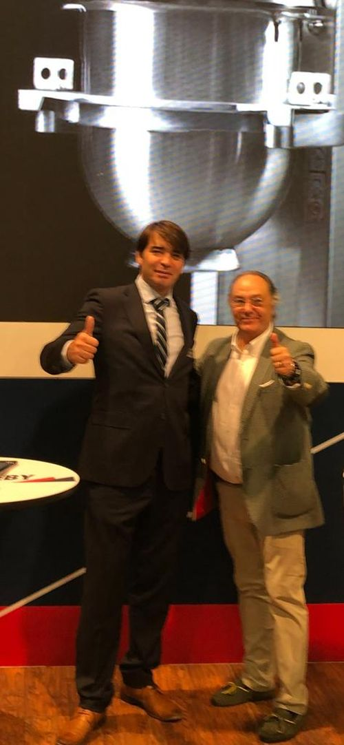 Sr. José Ramon Ferré Fort – CEO de Ferré & Consulting Holding Group junto al Sr. Michael Fleau - Regional Director Iberia and France - Middleby Food Processing