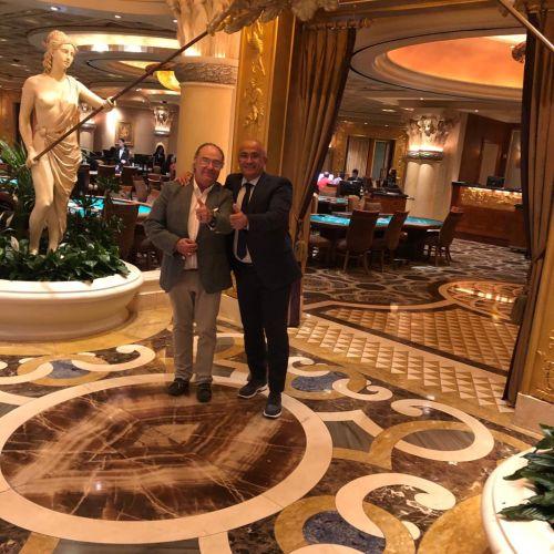 Sr. José Ramon Ferré Fort – CEO de Ferré & Consulting Holding Group junto al Sr. Leonardo Bonazza -Sales Manager- B&B Impianti Silos S.n.c.